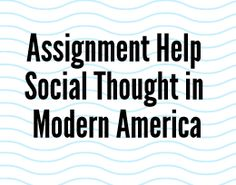 Social Thought in Modern America