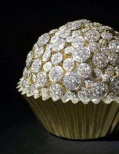 Diamond studded cupcake