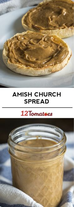 Amish Church Spread - At its core, church spread is a beautiful, silky combination of peanut butter and marshmallow creme. You whisk them together on the stovetop, along with brown sugar, butter, corn syrup and vanilla or maple extract, and you're left with a dip or spread that's completely addictive and amazing, to be slathered on toast or biscuits or muffins.