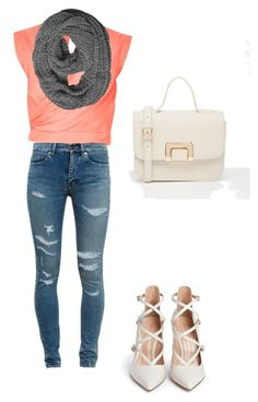 """Без названия #6"" by roxanammk on Polyvore featuring мода, River Island, Yves Saint Laurent, Gianvito Rossi и ASOS"