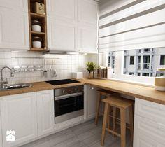 """metamorfoza kawalerki """"mała prowansja"""" - Średnia kuchnia, styl prowansalski - zdjęcie od Grafika i Projekt architektura wnętrz"""