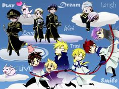 Wallpaper of Chibi 7 Ghost Characters ^O^V for fans of 07 ghost.