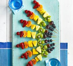 These vitamin-packed fruit skewers are a simple, colourful and fun way to get kids to eat fruit. They'll love helping to make them too.