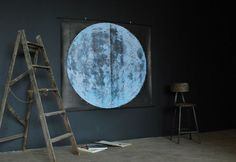 Very Large Moon Chart (signed) via Etsy.