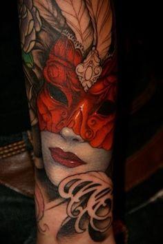 Naughty forearm tat