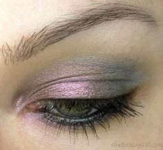 iridescent mauve coloured eyeshadow.