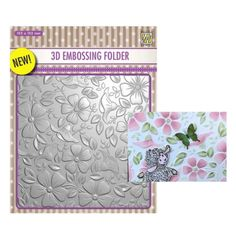 Sizzix STUNNING TINY POINSETTIA FRAME EMBOSSING FOLDER Christmas special