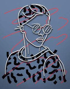Ukrainian illustrator Vasya Kolotusha created these amazing neon GIFs with an awesome retro vibe. Graphic Design Typography, Graphic Design Illustration, Digital Illustration, Graphic Art, Web Design, Grid Design, Motion Poster, Illustrations And Posters, Motion Design