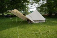 5m Bell Tent with awning