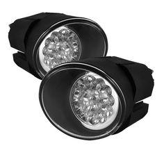 ( Spyder ) Nissan Maxima 00-01 / Nissan Sentra 00-03 / Nissan Frontier 01-04 / Nissan Xterra 02-04 LED Fog Lights w/Switch - Clear