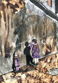 Dibujo a partir del azar y de la mancha. Sarai Aranburu 1º Bachillerato Artístico. IES. Usandizaga 2014
