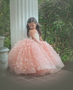 Amelia gown by Anna Triant Couture Couture flower girl and special occasion dresses Little Girl Gowns, Gowns For Girls, Wedding Dresses For Girls, Little Girl Dresses, Girls Dresses, Flower Girl Dresses, Baby Dress Design, Princess Ball Gowns, Baby Gown