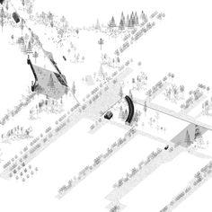 Landscape Architecture Drawing, Landscape And Urbanism, Architecture Graphics, Landscape Design, Architecture Design, Axonometric Drawing, Isometric Drawing, Urban Mapping, Bartlett School Of Architecture