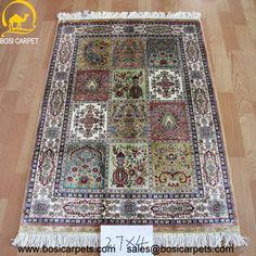 Hand knotted silk rug # Rug No.: P0426 # Quality: 230L (368kpsi) # Size: 2.7x4ft (82x122cm) # Material: 100% Silk # wholesale Price: $486/piece # If you have any interests, please email to sales@bosicarpets.com             Hand-madecarpet#orienatlrug#oldrug#Kashmirrug#Chinacarpet#Iraniancarpet#boteh#HeratiGul# Isfahan#Tabriz#Qum#Nain#Kashan#Kerman#Bijar#Sarouk#Caucasian#antiquecarpet#bosicarpet