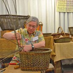 Katherine Lewis weaving - Willow Baskets by Katherine Lewis