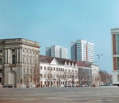 Berlin 1970 Blick in die Breitestrasse (links Alter Marstall)