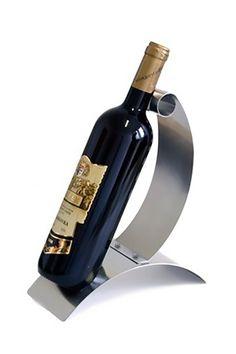 Nerezový stojan Stoper s láhví vína