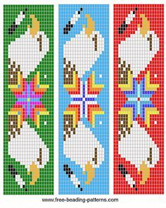 free-beading-pattern-barrette-double-eagle