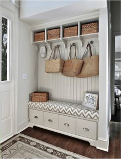 Clever Space Usage And Rattan Accents