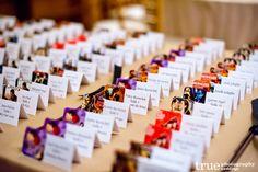 movie themed wedding table escort cards