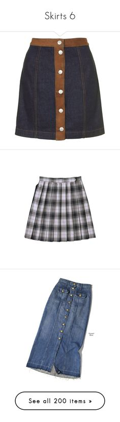 """""""Skirts 6"""" by sleepyboy ❤ liked on Polyvore featuring skirts, bottoms, mid stone, button front a line skirt, blue a line skirt, knee length denim skirt, button front denim skirt, blue denim skirt, denim midi skirts and blue midi skirt"""