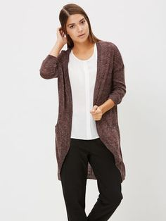 3/4-ÄRMELIGE STRICKJACKE, Fudge