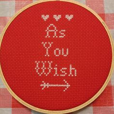 Princess Bride Cross Stitch Pattern   •  Free tutorial with pictures on how to cross stitch  in under 150 minutes