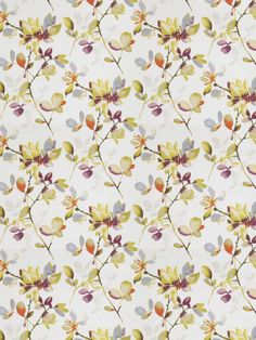 Come Again in color Tropical from Fabricut's Vignettes XII - Pomegranate color series.