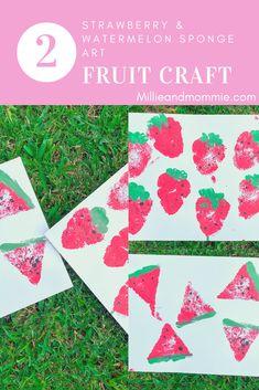 Fruit Art – Millie + Mommie Summer Crafts For Kids, Fall Crafts, Projects For Kids, Diy For Kids, Indoor Activities For Kids, Infant Activities, Family Activities, Craft Activities, Toddler Crafts