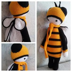 bee mod based on Buzz the house fly made by Christina V. / crochet pattern by lalylala