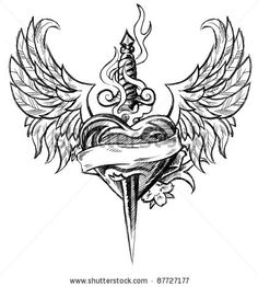 14 Best Winged Heart Tattoos Images Heart With Wings Tattoo Heart