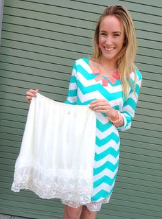 Lace Slip Dress Extender Stylish Skirt Lengthener by ThreeBirdNest, $34.99