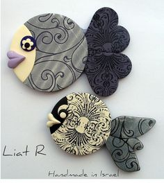 Clay Fishies !--sweet and could have magnets attached.