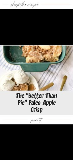 Who needs pie when you've got something this good? This paleo version of apple crisp is vegan, gluten free, dairy free, refined sugar free and everything your holiday season needs! Paleo Apple Crisp, Dairy Free, Gluten Free, Best Cookie Recipes, Sugar Free, Pie, Vegan, Cookies, Healthy