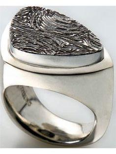 Sterling Ring with Damascus Steel | InterweaveStore.com