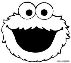 7 best images of sesame street face templates printable for Cookie monster coloring pages printable