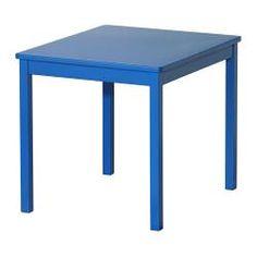 "KRITTER children's table, blue Length: 23 1/4 "" Width: 19 5/8 "" Height: 19 5/8 "" Length: 59 cm Width: 50 cm Height: 50 cm $24.99"