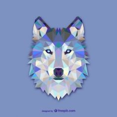 """Abstract Wolf"""" Art Prints by martinestella Design Loup, Wolf Design, Art Design, Abstract Wolf, Geometric Wolf, Polygon Art, Pet Gifts, Vector Art, Illustrations"""