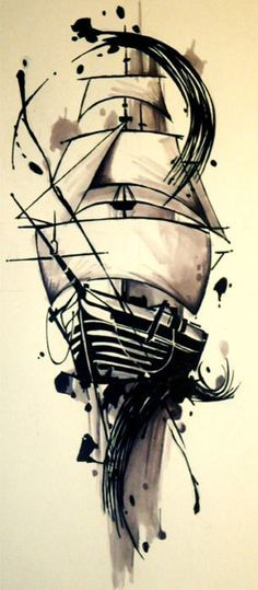 """Ship tattoo idea with - """"She is tossed by the waves, but does not sink"""" I doubt . - Ship tattoo idea with – """"She is tossed by the waves, but does not sink"""" I doubt I'll ever g - Pirate Tattoo, Pirate Ship Tattoos, Trendy Tattoos, New Tattoos, Cool Tattoos, Ankle Tattoos, Arrow Tattoos, Awesome Tattoos, Kunst Tattoos"""