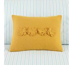 Yellow Bedding Bouquet Pillow
