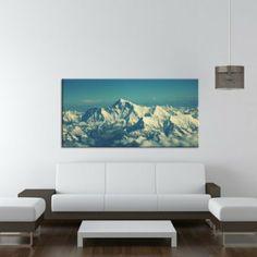 Alpen , Panoramabild 100x50 cm Bild auf Leinwand, XXL riesige Bilder fertig gerahmt mit Keilrahmen, Kunstdruck auf Wandbild mit Rahmen, gäns...