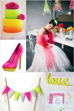 #neon #wedding #inspiration #board on Marry Me Metro, a city wedding ideas blog http://marrymemetro.com