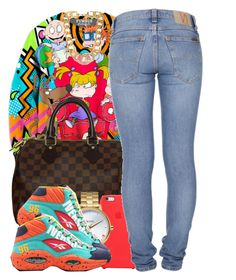"""""""9915"""" by polyvoreitems5 ❤ liked on Polyvore featuring Louis Vuitton, Apple, Nixon, Reebok, Nudie Jeans Co. and Forever 21"""
