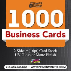 500 thick full color BUSINESS CARDS  free by PrintInMinutes2