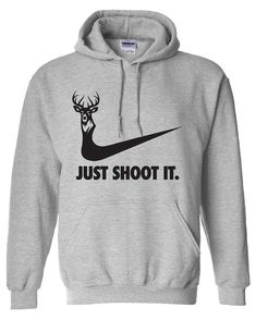 just shoot it hunting buck doe deer funny US duck hoodie hooded sweatshirt Mens Womens Ladies USA Canada wild wildlife moose turkey ML-169BH on Etsy, $44.35