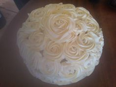 Rose cake I tried - German Chocolate cake, and roses to decorate - LOVED IT!
