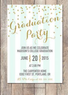 Printable Graduation Invitation Graduation Announcement Tassel