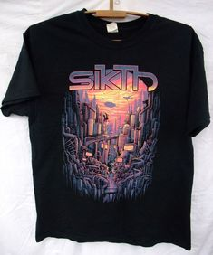 SIKTH - OPACITIES Progressive metal mathcore T-shirt cotton L unisex men s  black  Gildan  BasicTee fdff24159