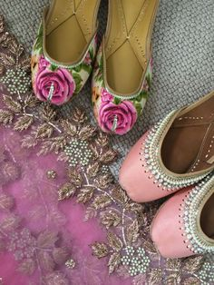 Checkout here new khussa designs for casual wear, party wear and wedding wear. Versace, Indian Shoes, Bollywood, Punjabi Fashion, Asian Fashion, Indie, Espadrilles, Indian Accessories, Shoe Collection