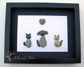 Personalized Animal Lover Gifts - Animal Themed Pebble Art - Pebble Art Pets - Unique Home Decor